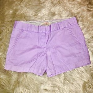 J. Crew Lilac Cotton Chino Shorts